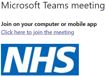 an image showing where the link instructions are in a meeting notification